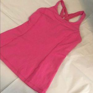 Lululemon Pink Tank Top - built in bra - Size 6